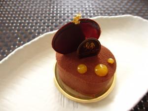 ロワゾー・ブルーのチョコケーキ